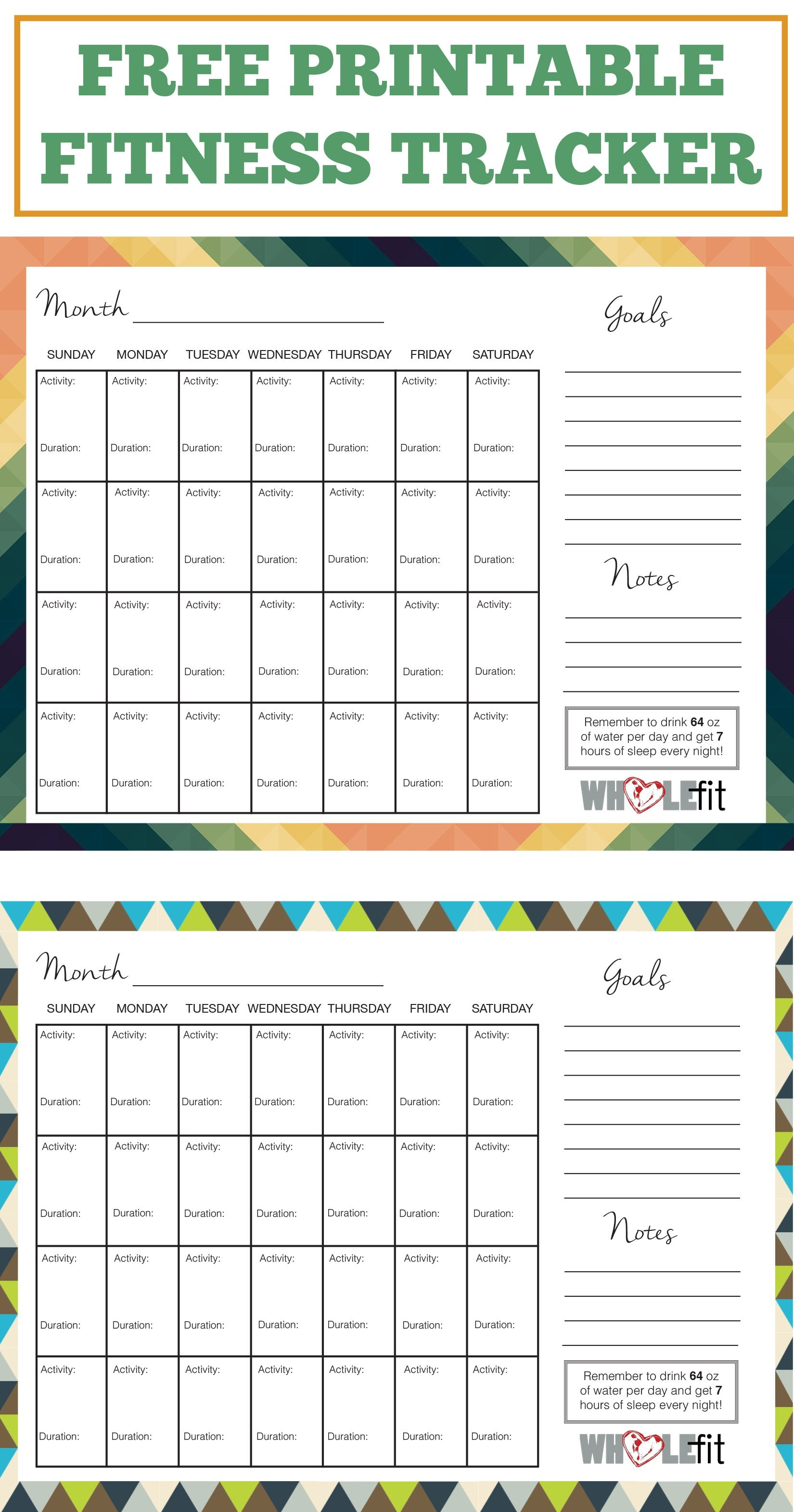 Track Your Progress With These Free Printable Fitness Trackers! | My - Free Printable Fitness Worksheets
