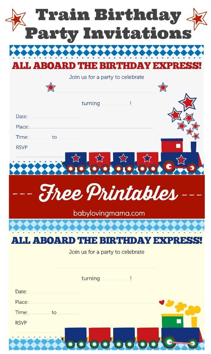 Train Birthday Party Invitations: Free Printables   Celebrate: Kid - Free Printable Labor Day Invitations