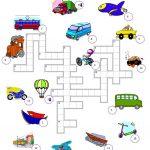 Transport Crossword Worksheet   Free Esl Printable Worksheets Made   Free Printable Transportation Worksheets For Kids