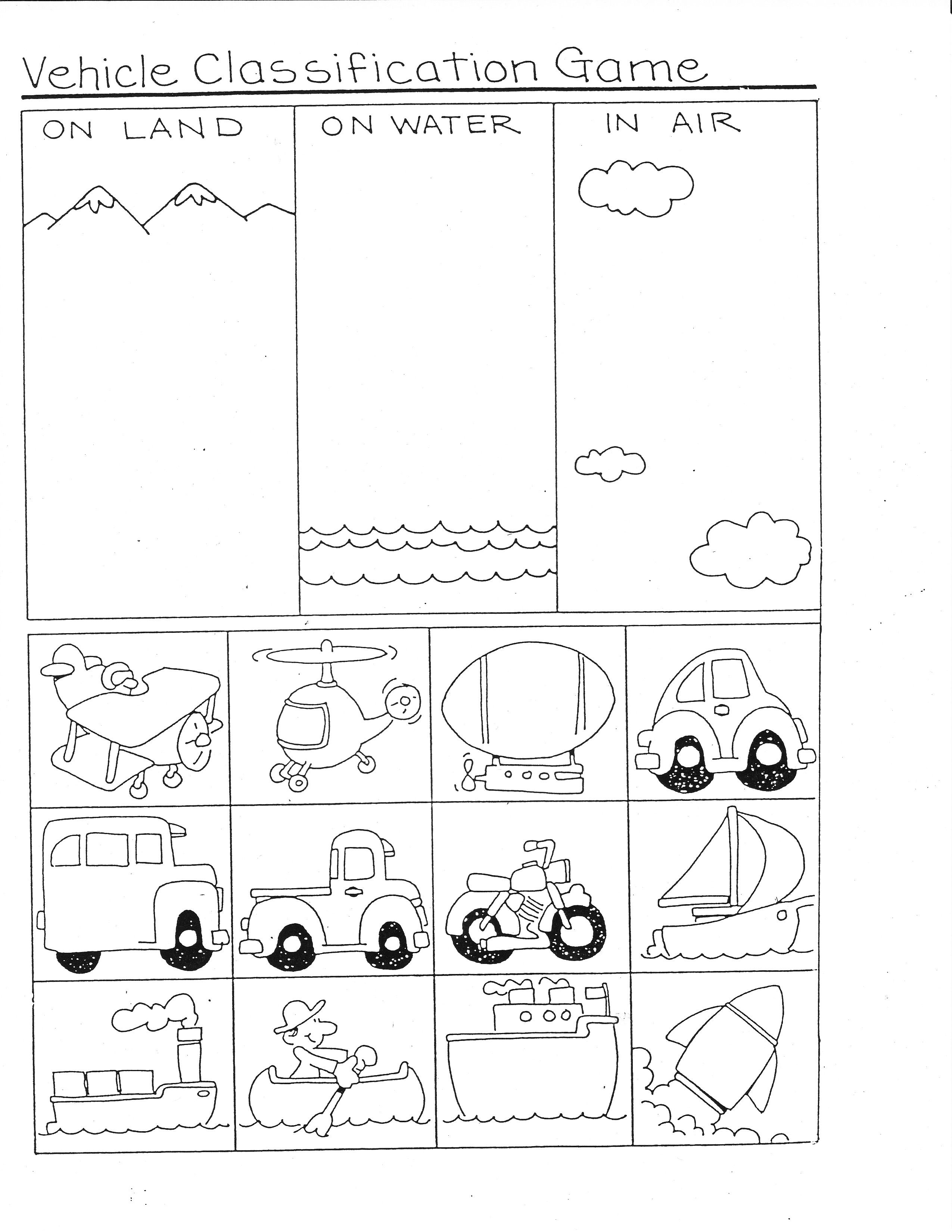 Transportation Ideas For Math | Ideas For School | Transportation - Free Printable Transportation Worksheets For Kids
