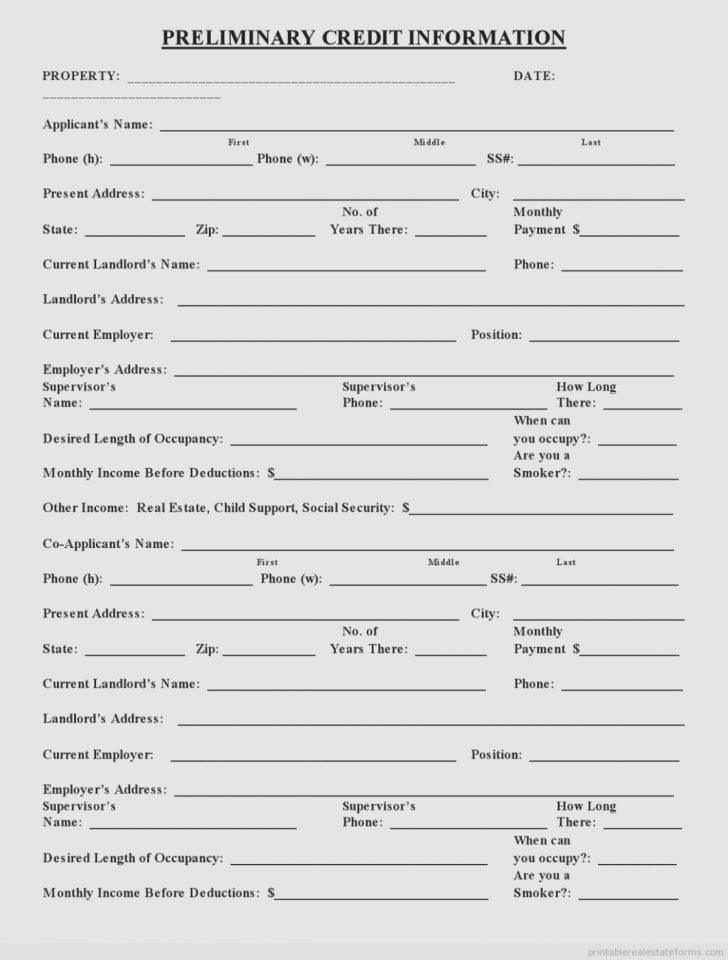 Free Credit Report Printable Form
