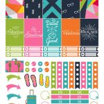 Travel Themed Printable Happy Planner Stickers Free | Die Cut Crafts   Free Printable Travel Stickers