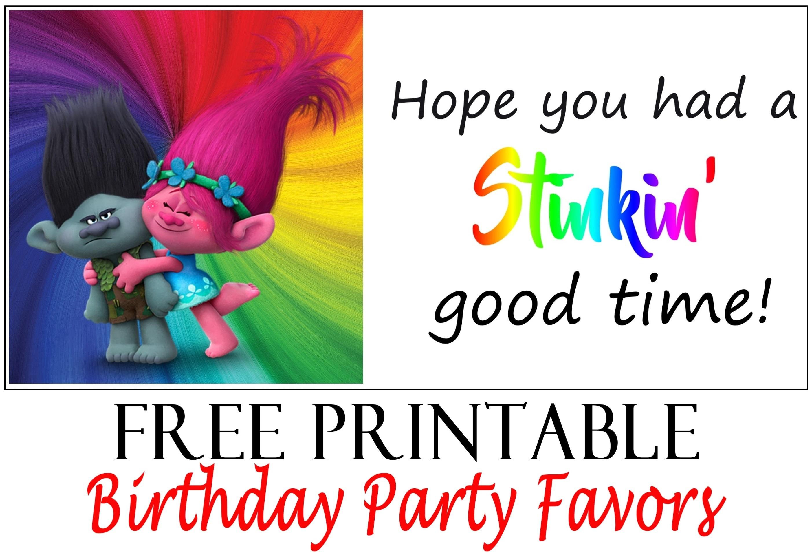 Trolls Birthday Party Printable Tags - Printables 4 Mom - Free Trolls Printables