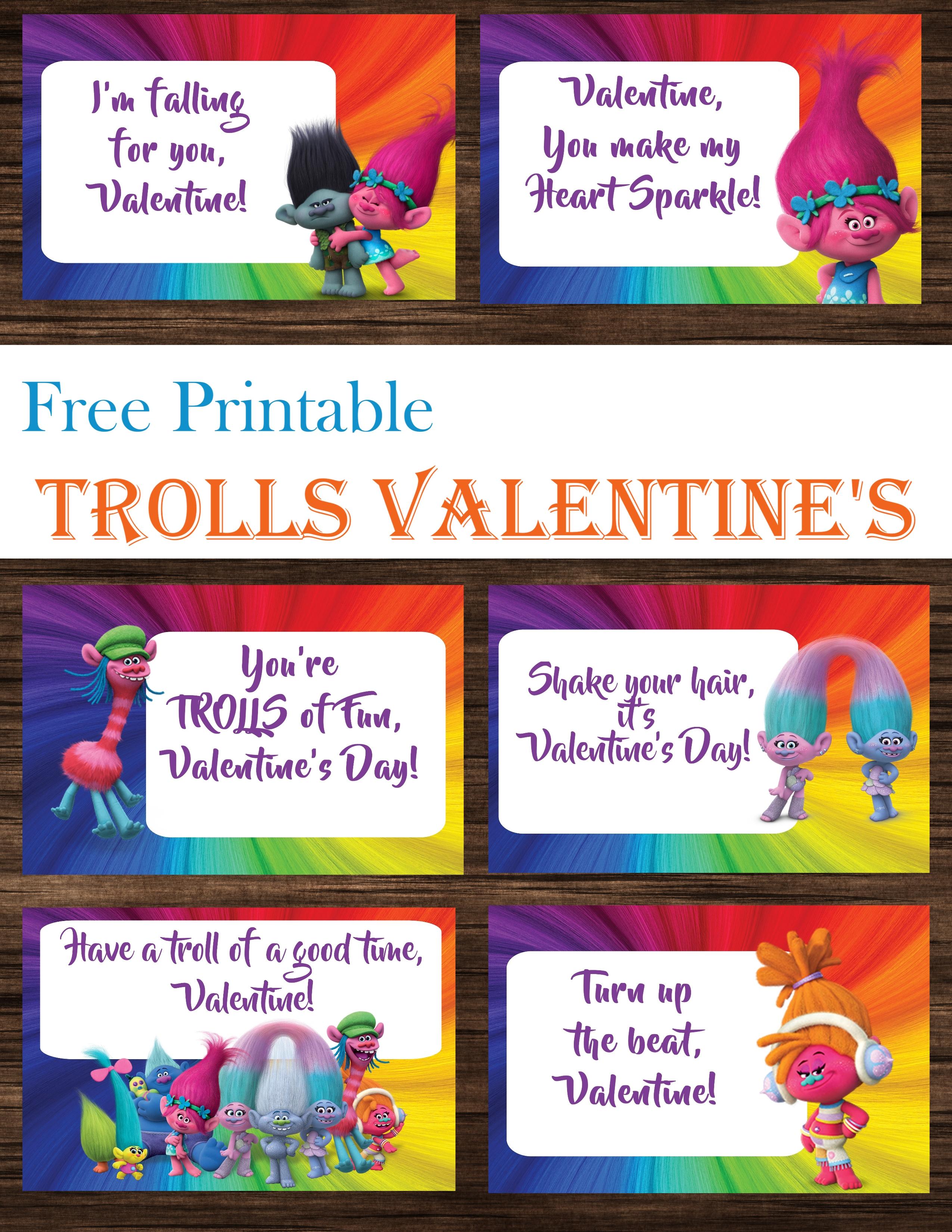 Trolls Valentine's Day Cards Free Printables - Printables 4 Mom - Free Trolls Printables