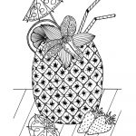 Tropical Island Cocktail Coloring Page | Free Adult Coloring Book   Free Printable Summer Coloring Pages For Adults