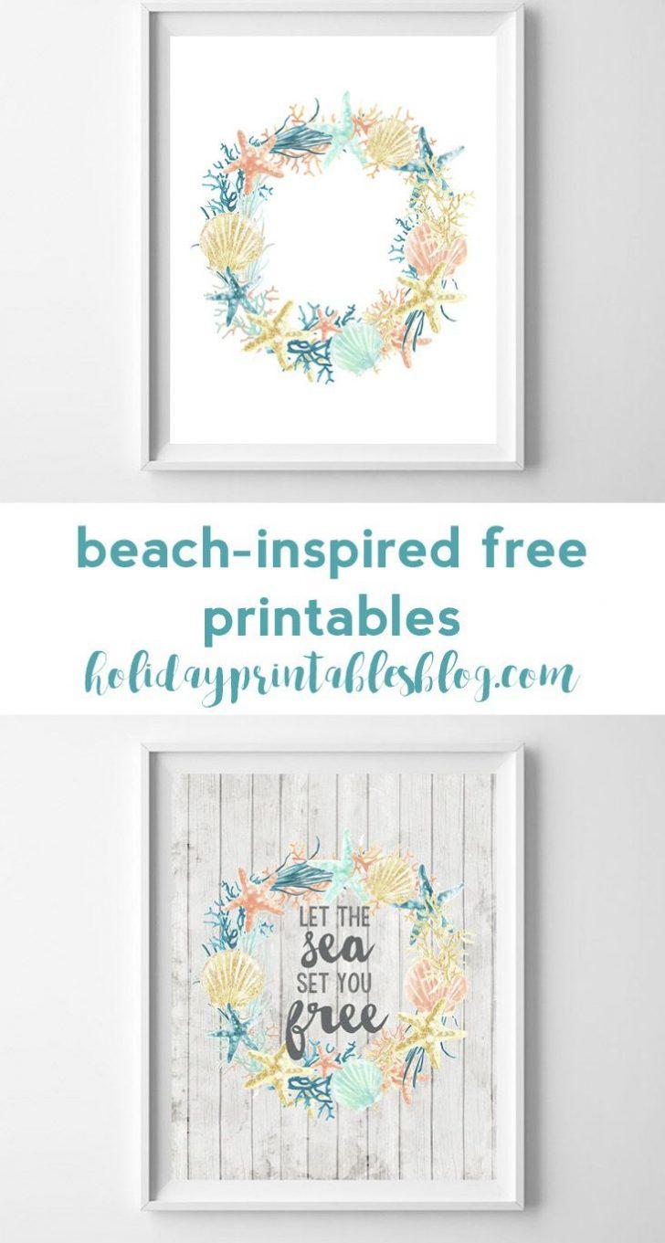 Free Coastal Printables