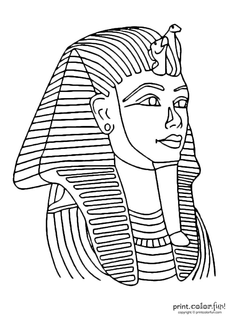 Tutankhamun Mask | Print. Color. Fun! Free Printables, Coloring - Free Printable Egyptian Masks