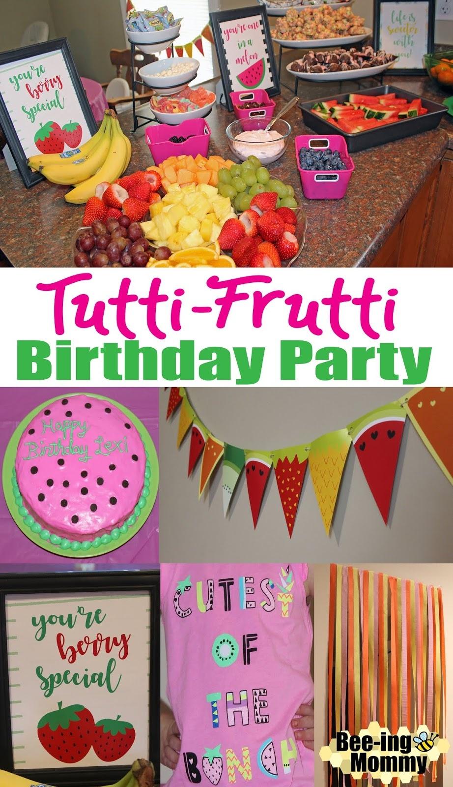 Tutti Frutti Party - Tutti Frutti Free Printables