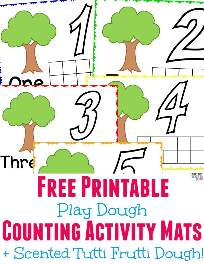 Tutti Frutti Scented Play Dough + Free Printable Playdough Mats - Free Printable Playdough Mats