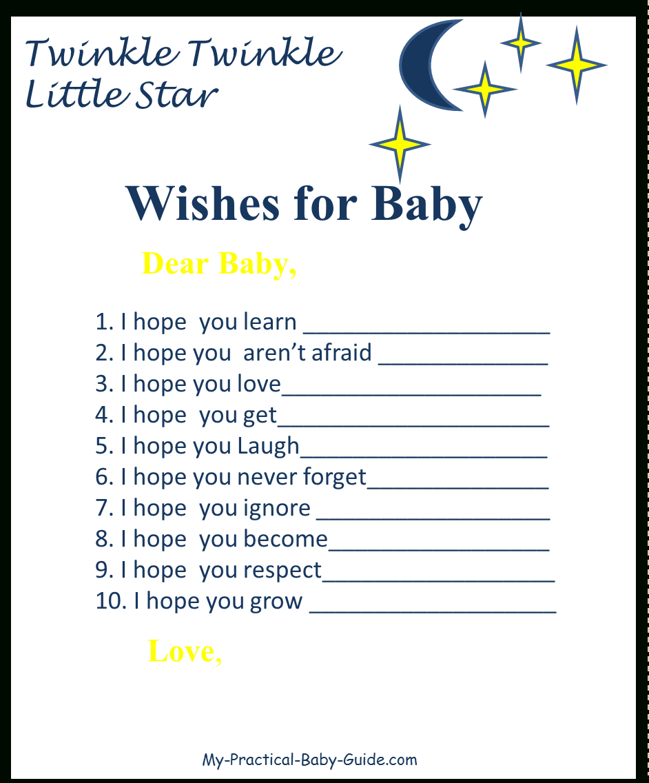 Twinkle Twinkle Baby Shower Ideas - My Practical Baby Shower Guide - Twinkle Twinkle Little Star Baby Shower Free Printables
