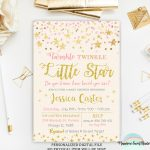 Twinkle Twinkle Little Star Baby Shower Invitation Pink And | Etsy   Free Printable Twinkle Twinkle Little Star Baby Shower Invitations