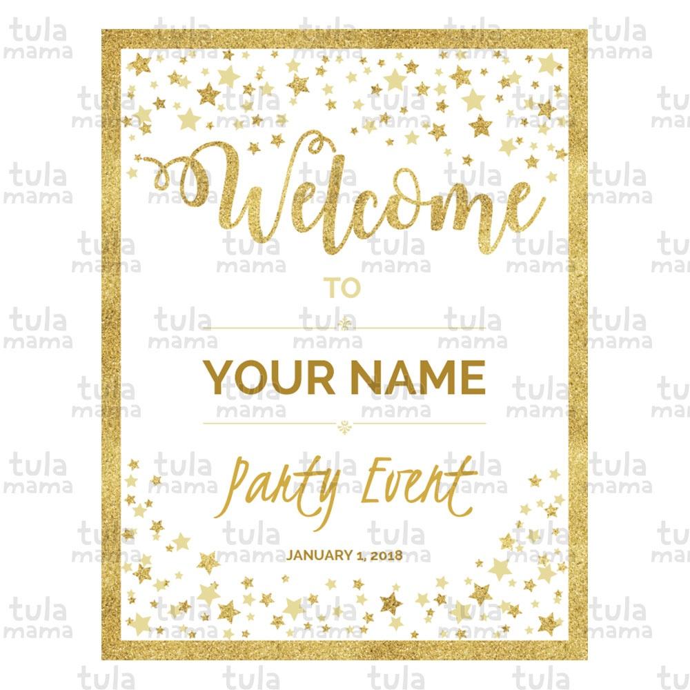 Twinkle Twinkle Little Star Baby Shower Welcome Sign - Tulamama - Twinkle Twinkle Little Star Baby Shower Free Printables