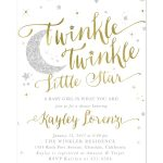 Twinkle Twinkle Little Star Boy Or Girl Baby Shower Invitation   Free Printable Twinkle Twinkle Little Star Baby Shower Invitations