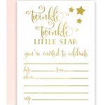 Twinkle Twinkle Little Star Foil Invitations   Chicfetti   Free Printable Twinkle Twinkle Little Star Baby Shower Invitations