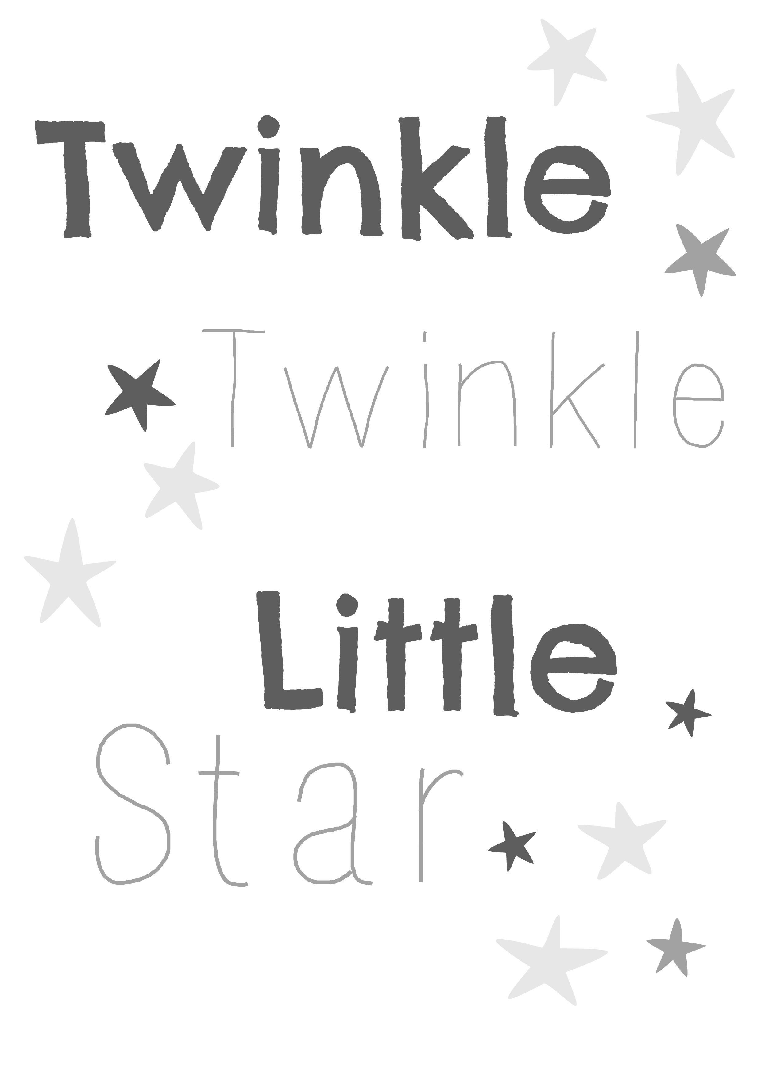 Twinkle Twinkle Little Star Nursery Print, Free Printable From - Twinkle Twinkle Little Star Baby Shower Free Printables