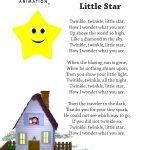 Twinkle Twinkle Little Star Nursery Rhyme Lyrics Free Printable   Free Printable Nursery Rhymes Songs