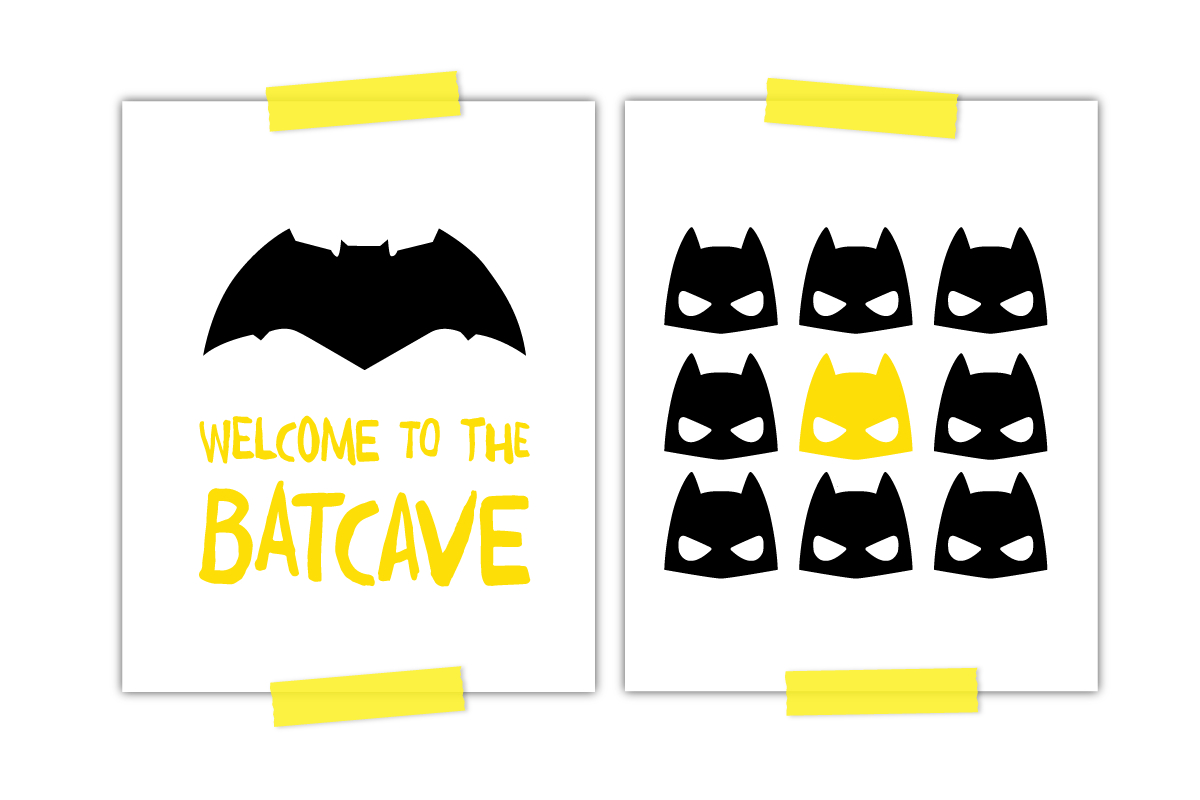 Two Awesome Free Batman Printables Every Little Boy Needs - Free Batman Printables