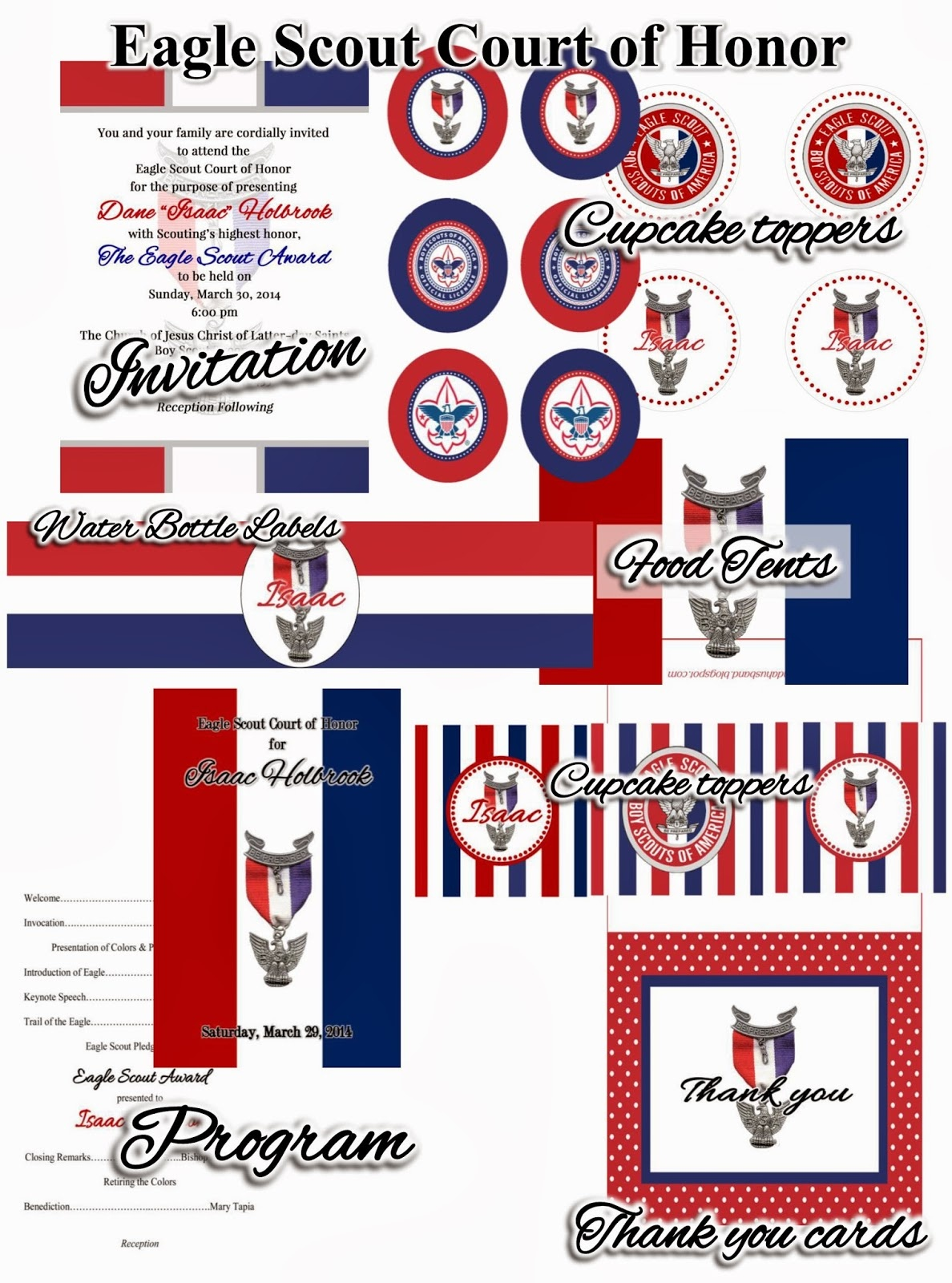 Two Kids & A Husband: Eagle Scout Court Of Honor - Free Eagle Scout Printables