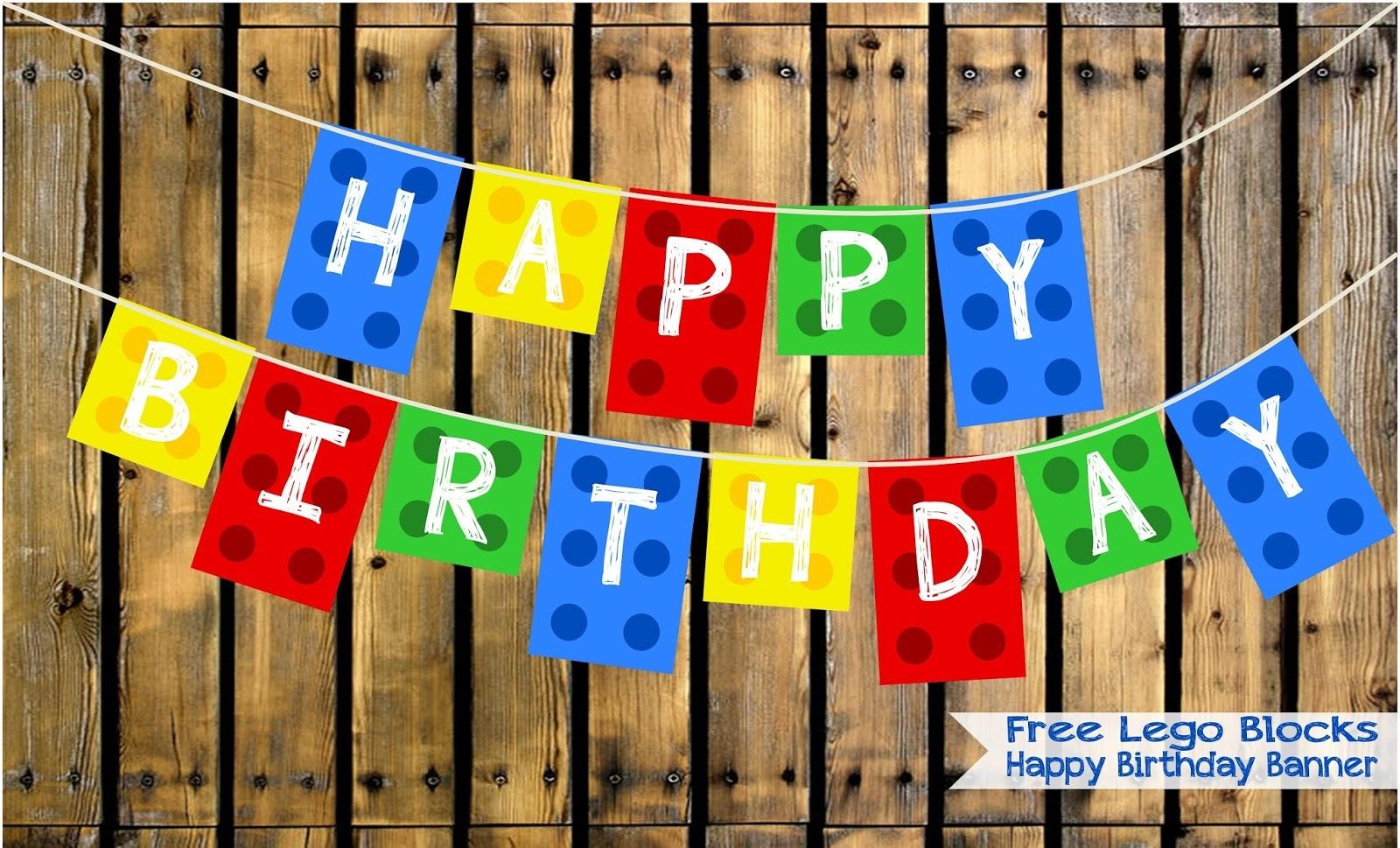 Two Magical Moms: Free Lego Blocks Happy Birthday Banner - Free Printable Lego Banner