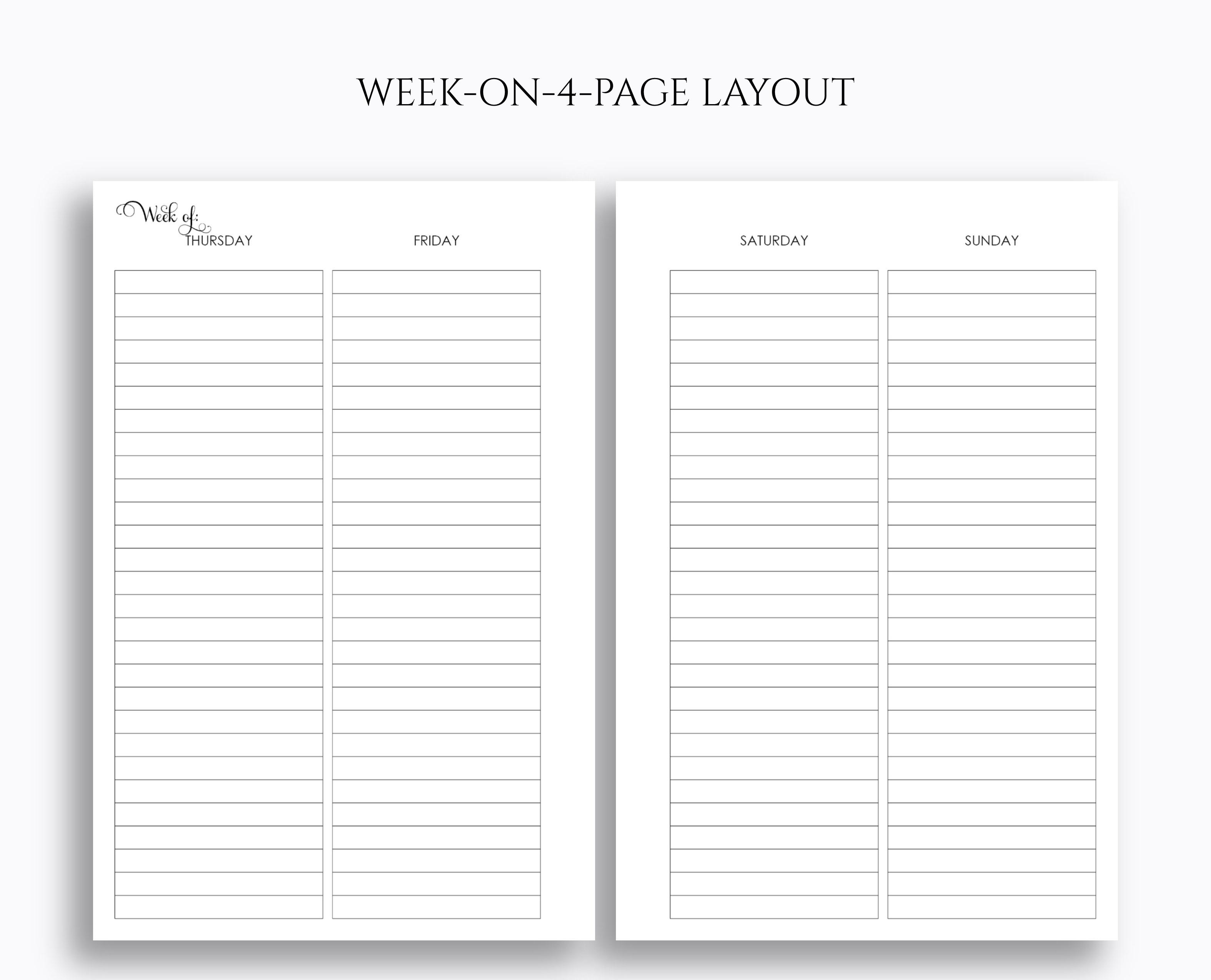 Undated Vertical Weekly Lined Columns Mini Happy Planner Printable 2 - Free Printable Column Paper