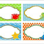 Under The Sea Food Labels Free Printable Tags   Imagestack   Free Printable Sea Creature Templates