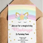 Unicorn Birthday Invitations   Free Printable * Party With Unicorns   Free Printable Unicorn Birthday Invitations