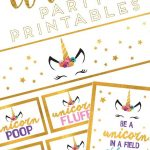 Unicorn Birthday Party Ideas With Free Printable Download | Little   Free Birthday Printables