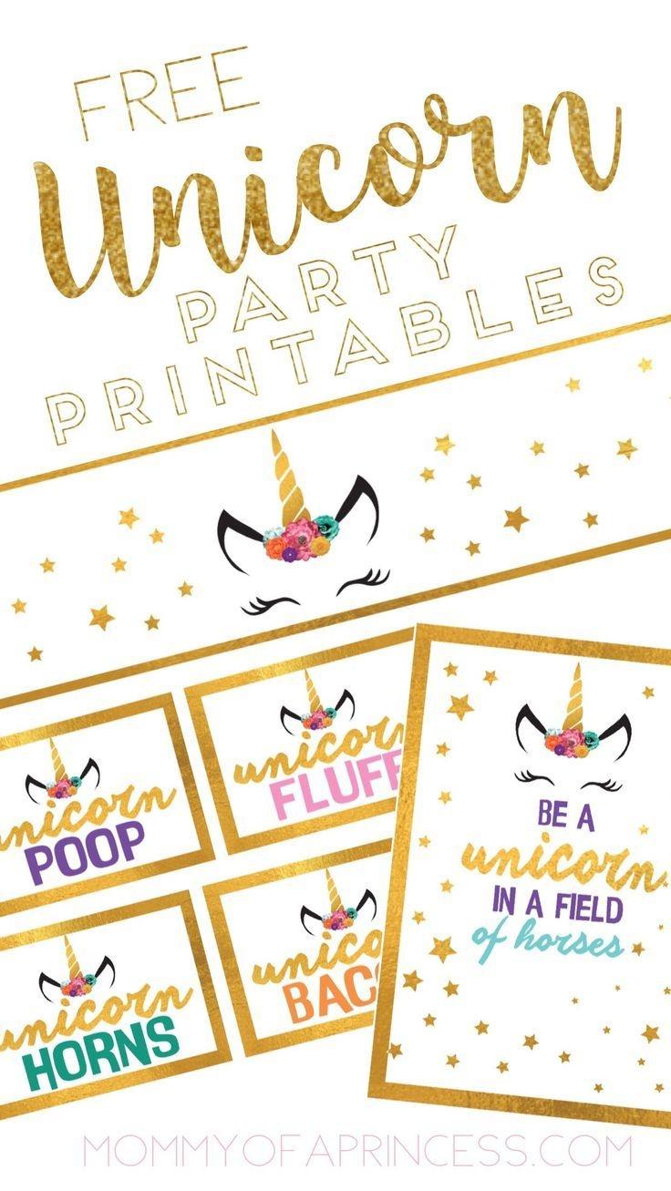 Unicorn Birthday Party Ideas With Free Printable Download | Little - Free Birthday Printables