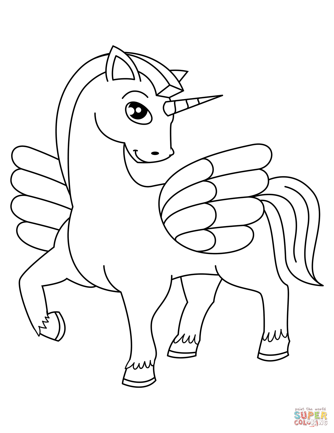 Unicorn Coloring Pages   Free Coloring Pages - Free Printable Unicorn Coloring Pages