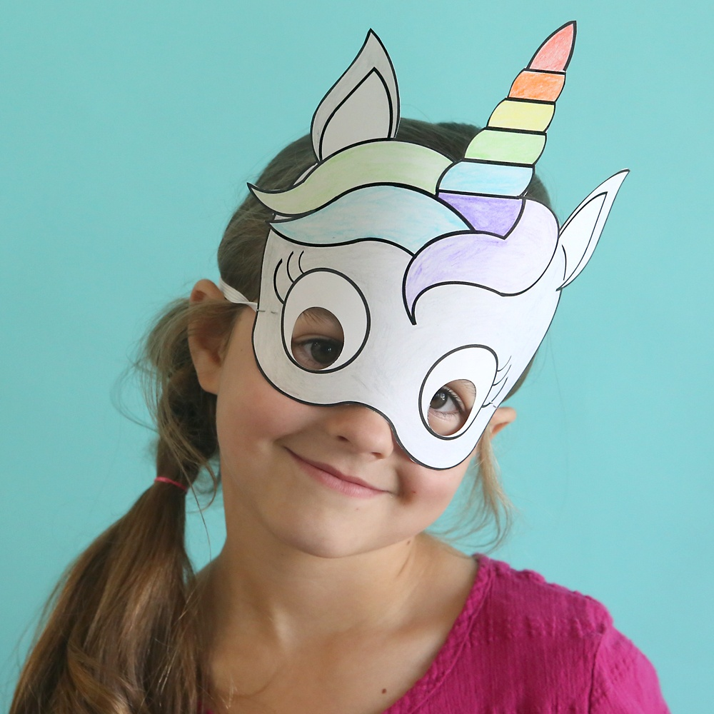 Unicorn Masks To Print And Color {Free Printable} - It's Always Autumn - Free Printable Paper Masks
