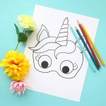 Unicorn Masks To Print And Color {Free Printable}   It's Always Autumn   Free Printable Unicorn Face Template
