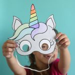 Unicorn Masks To Print And Color {Free Printable}   It's Always Autumn   Free Printable Unicorn Mask