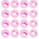 Unicorn Stickers & Cupcake Toppers | Party: Unicorn | Unicorn Cups   Free Printable Unicorn Cupcake Toppers