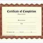Unique Certificate Of Completion Template Free Download | Best Of   Certificate Of Completion Template Free Printable