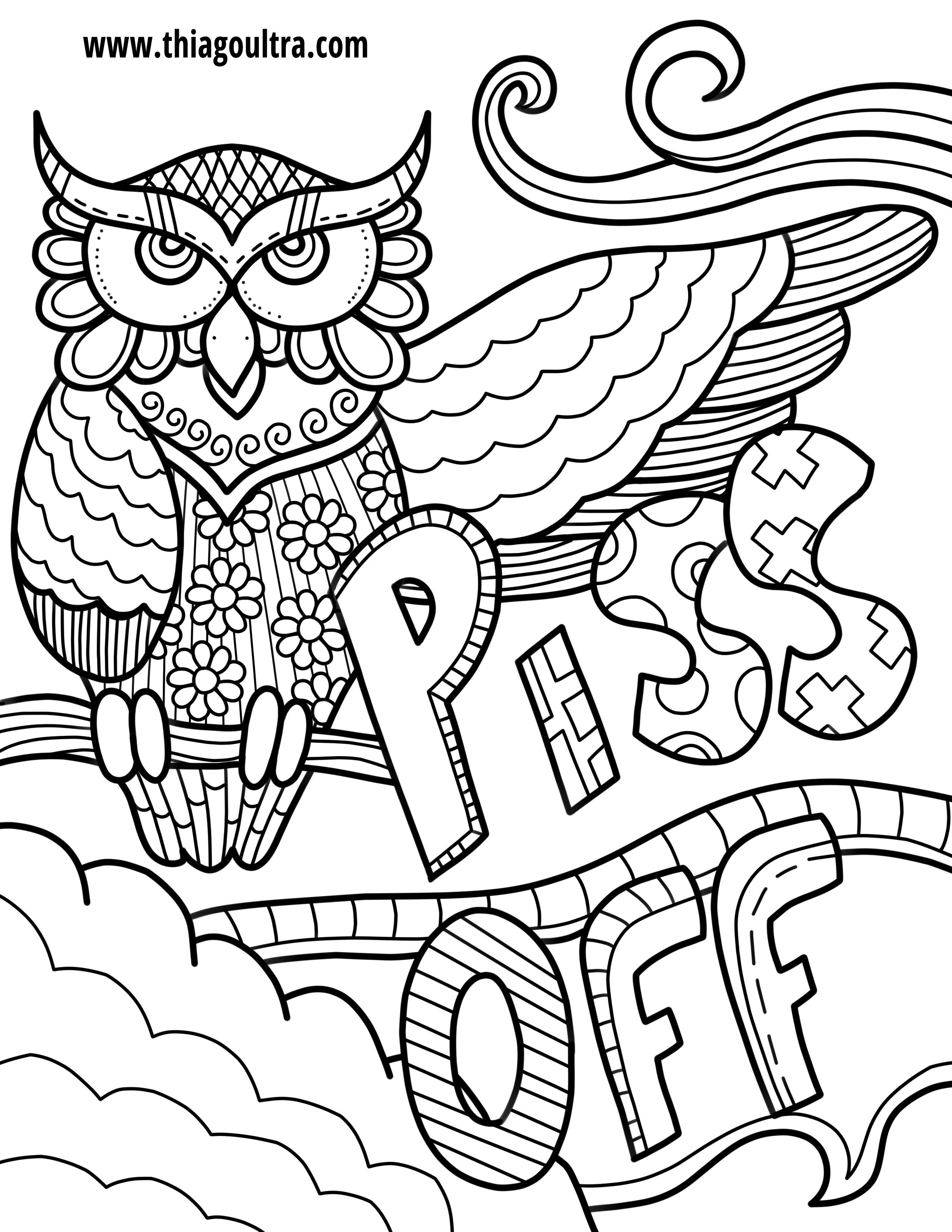 Unique Free Printable Coloring Pages For Adults Only Swear Words - Free Printable Pictures