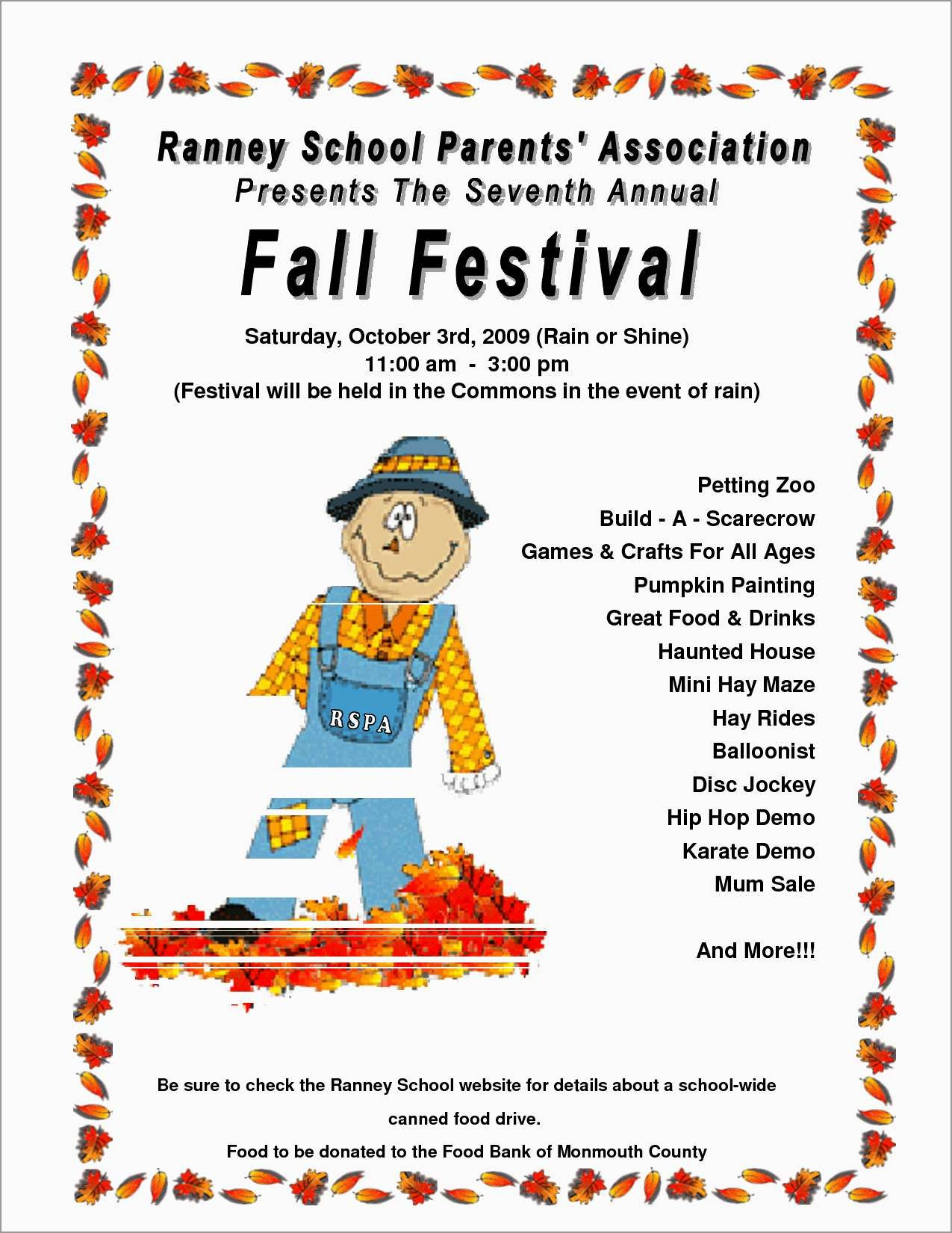 Unique Free Printable Fall Flyer Templates | Best Of Template - Free Printable Fall Festival Flyer Templates