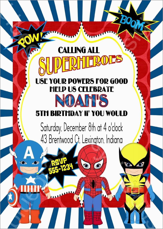 Unique Free Printable Superhero Birthday Invitation Templates   Best - Free Printable Superhero Birthday Invitation Templates