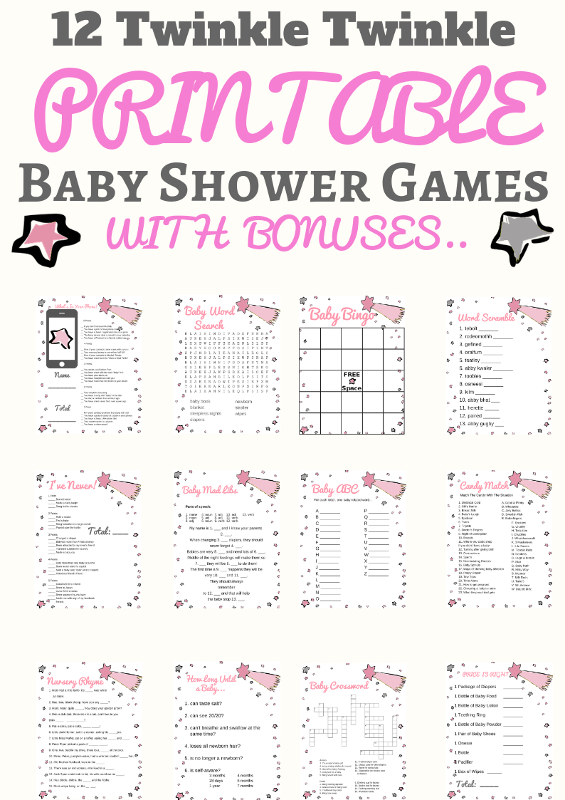 Unique Gender Reveal Party Ideas You Need For Your Shower - Free Printable Gender Reveal Games