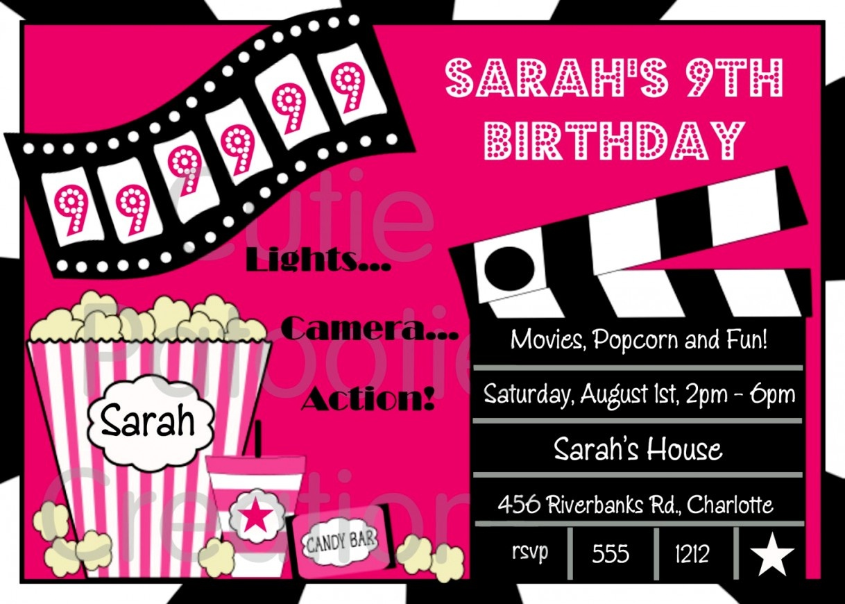 Unique Movie Themed Birthday Party Invitations Free Printable - Free Printable Movie Themed Invitations