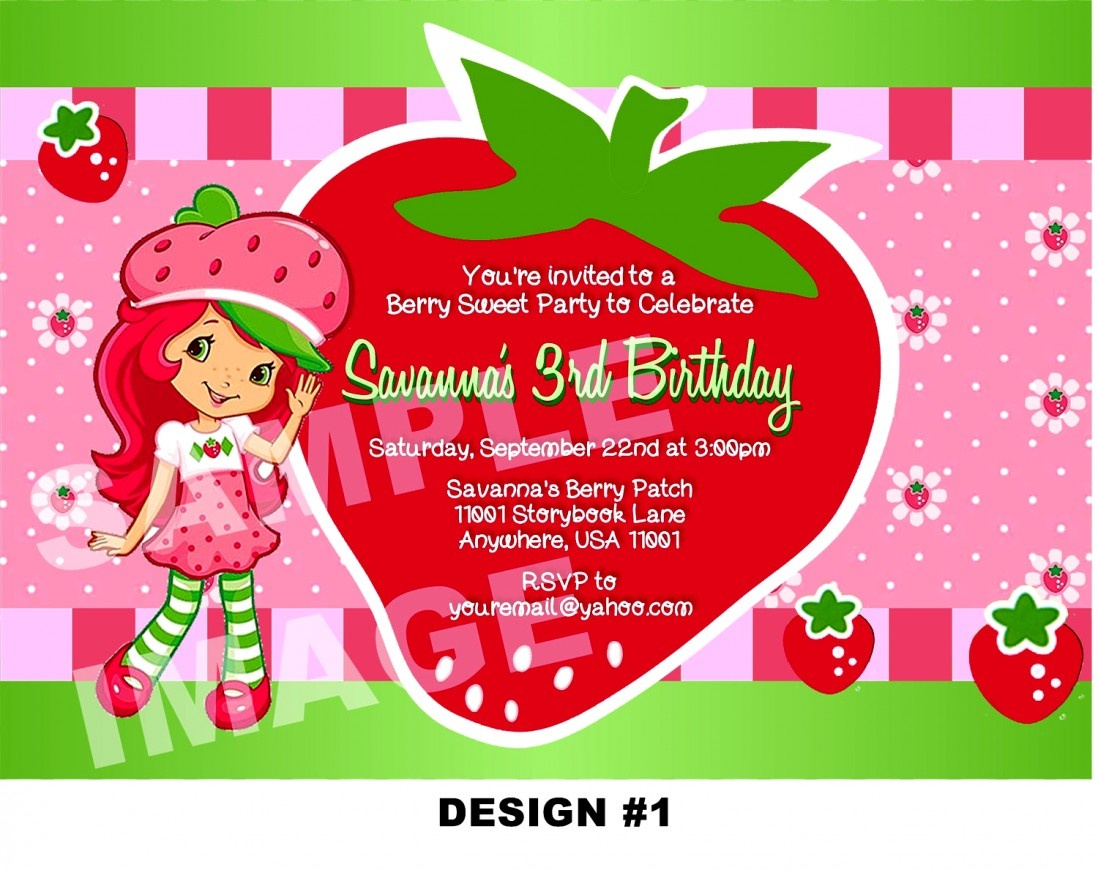 Unique Of Strawberry Shortcake Birthday Invitations Free Printable - Strawberry Shortcake Birthday Cards Free Printable