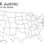 United States Map With State Names Pdf Refrence United States Map   Free Printable Blank Map Of The United States Of America