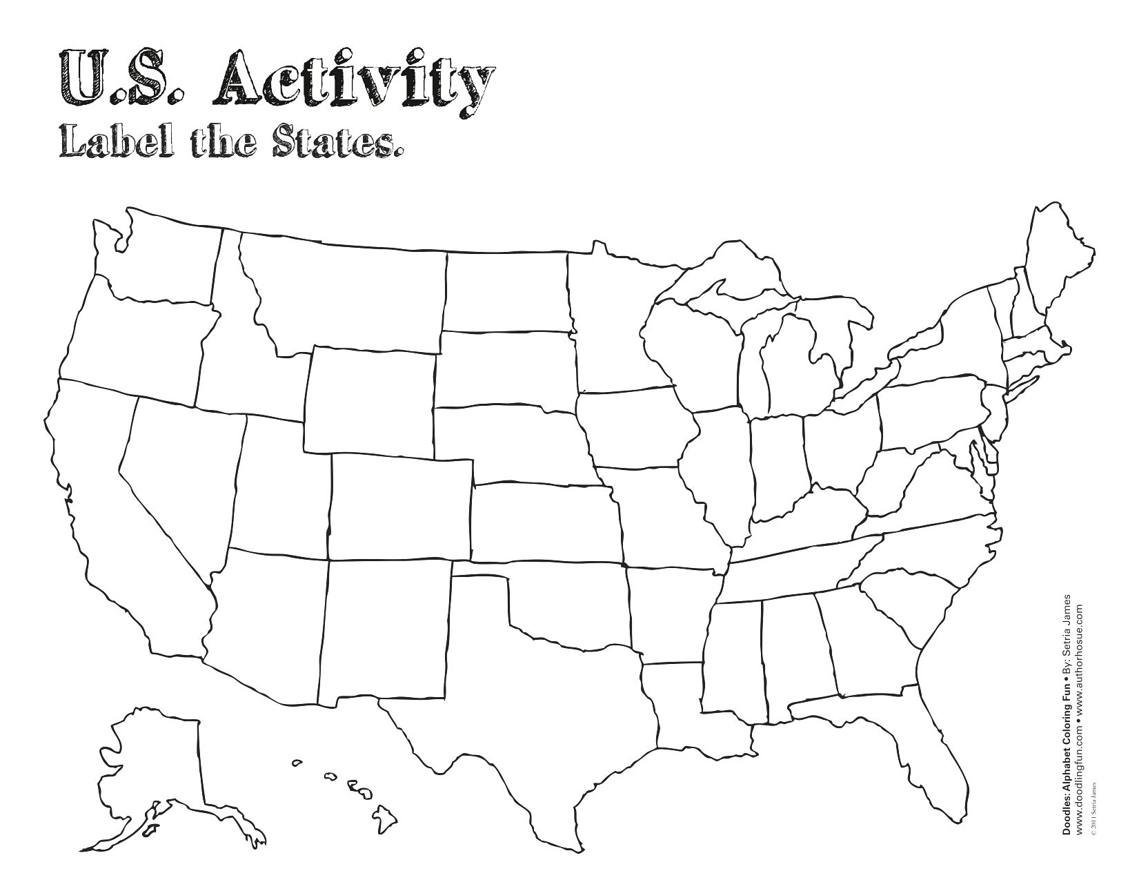 United States Map With State Names Pdf Refrence United States Map - Free Printable Blank Map Of The United States Of America
