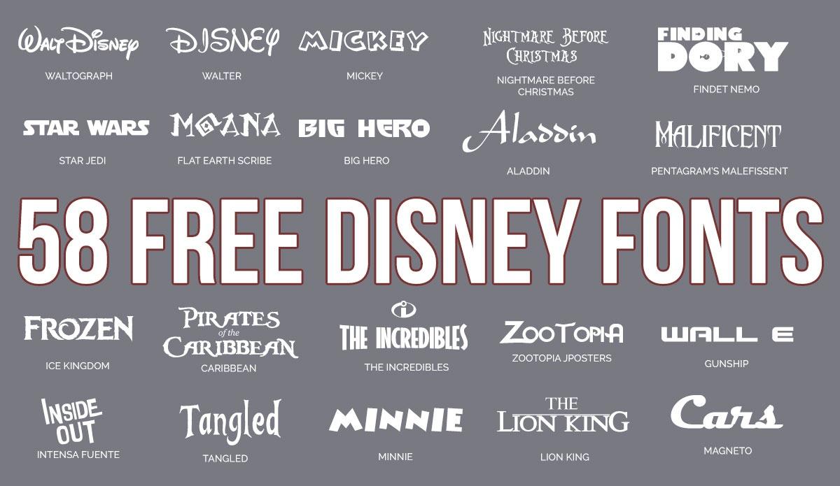Updated: 59 Free Disney Fonts (June 2019 Edition) - Free Printable Disney Font Stencils