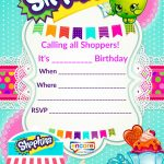Updated   Free Printable Shopkins Birthday Invitation | Free   Printable Invitations Free No Download