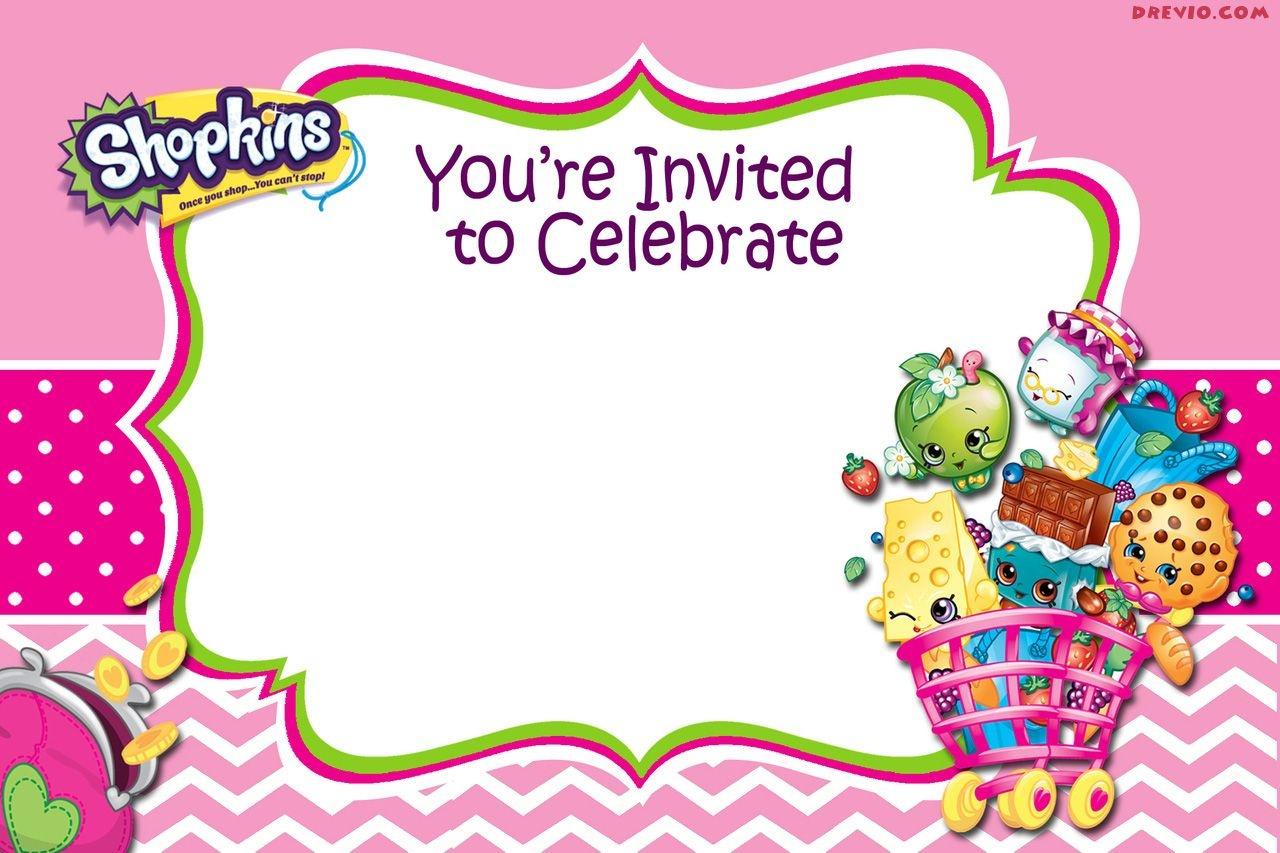 Updated - Free Printable Shopkins Birthday Invitation | Free - Shopkins Free Printables