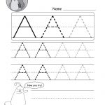 Uppercase Letter Tracing Worksheets (Free Printables)   Doozy Moo   Free Name Printables