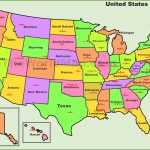Usa States And Capitals Map   Free Printable Map Of United States With States Labeled