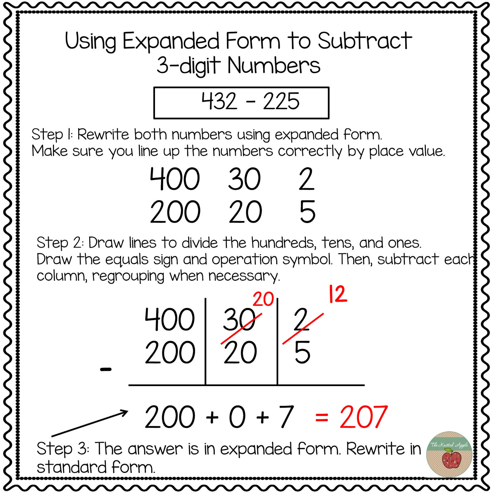Using Expanded Notation To Regroup | Math | Expanded Notation - Free Printable Expanded Notation Worksheets