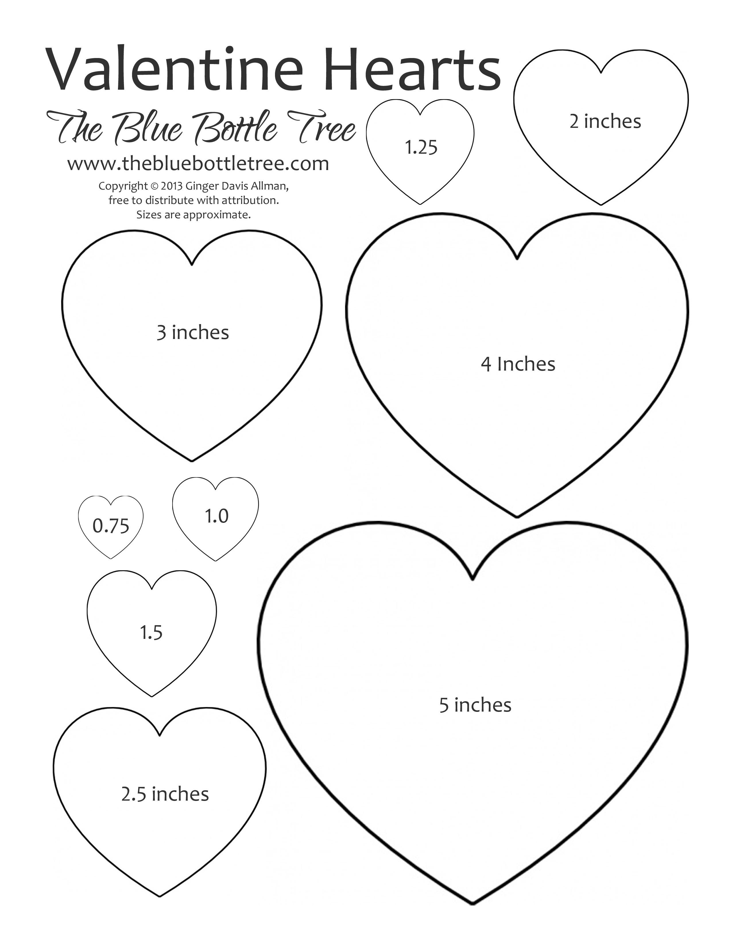 Valentine Heart Printable Clipart | Crafting Tips And Tricks | Heart - Free Printable Valentine Heart Patterns