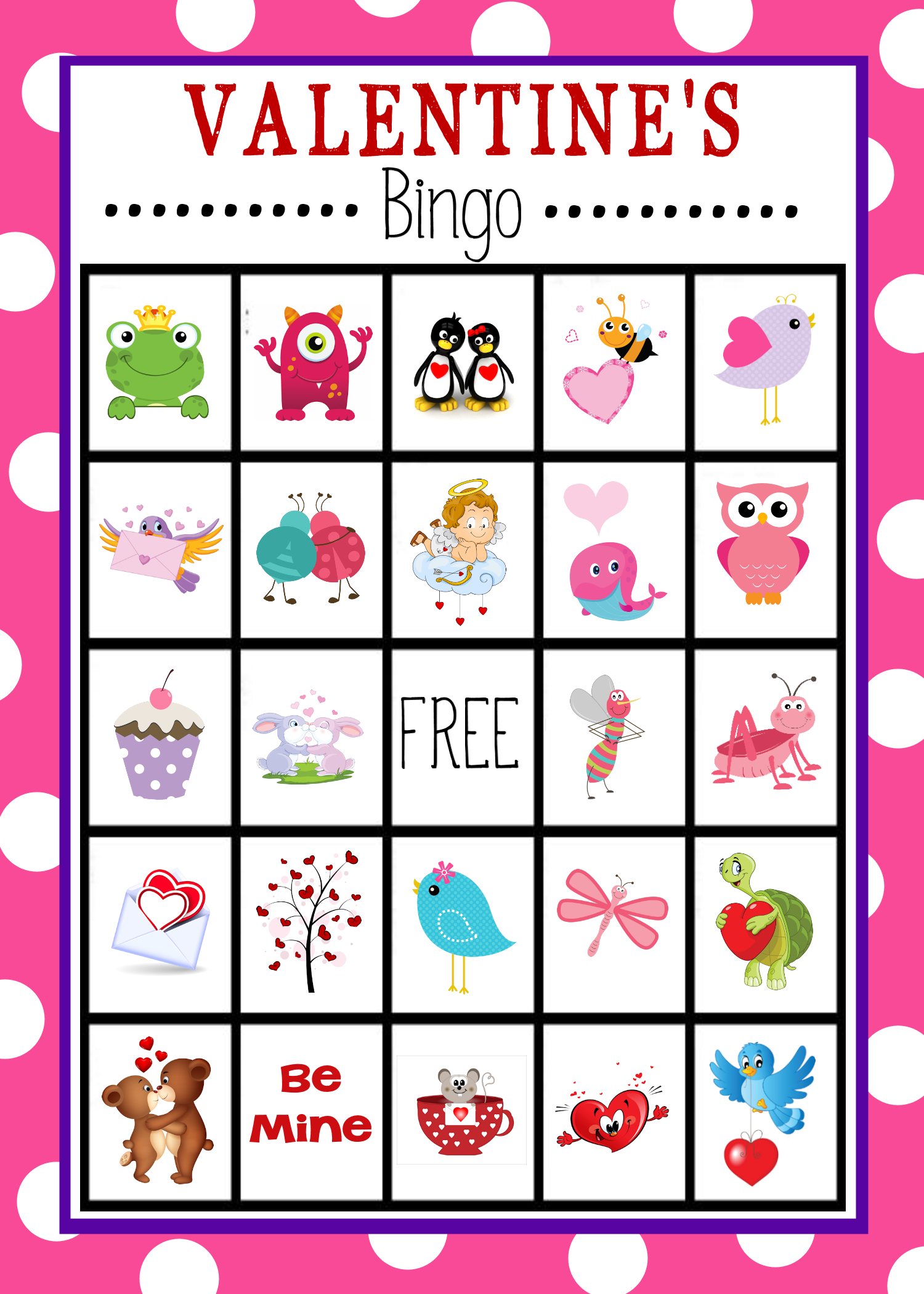 Valentine's Bingo Game To Print & Play | Valentine's Day Activities - Valentine Bingo Game Printable Free